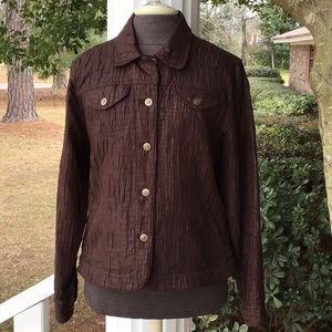 Ruby Rd. Brown Jacket, Button Front, size 16